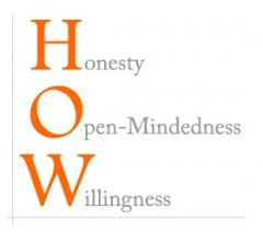 Honesty, Open Mindedness, Willingness to Make Amends