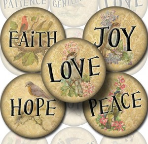 Fruits of the Spirit: Faith Hope Love Joy Peace