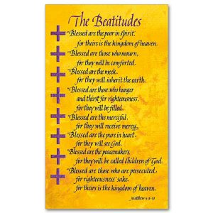 Beatitudes Prayer Card